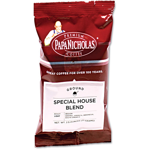 PapaNicholas Special House Blend Premium Ground Coffee, 2.5 oz, 18 count