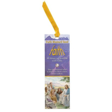 Faith Mustard Seed Bookmarks with Ribbons (Pack of