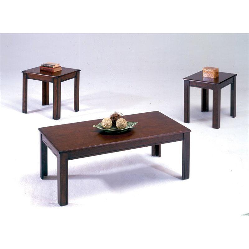 Bernards 3 Piece Coffee Table Set in Espresso