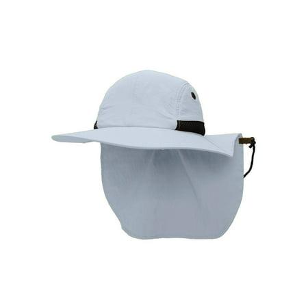 Fusion Hat Clip - TopHeadwear 4 Panel Large Bill Flap Sun Hat w/ Adjustable Flap Clip