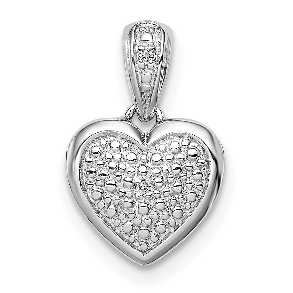 925 Sterling Silver Diamond Heart Pendant Charm Necklace Fine Jewelry Gifts For Women For Her - image 2 of 2