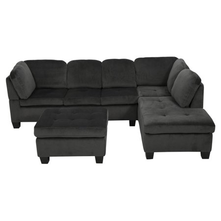 Astounding Evan 3 Piece Sectional Sofa Walmart Com Inzonedesignstudio Interior Chair Design Inzonedesignstudiocom