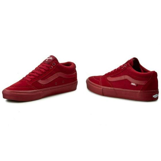 95dd09c308 Vans - Vans Men s Tnt Sg Red Dahlia Ankle-High Suede Skateboarding Shoe -  8M - Walmart.com
