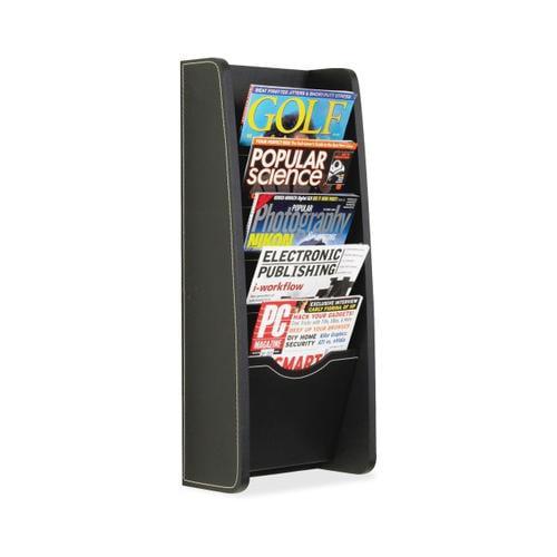 Safco 5-pocket Leather-Look Magazine Rack SAF5575BL