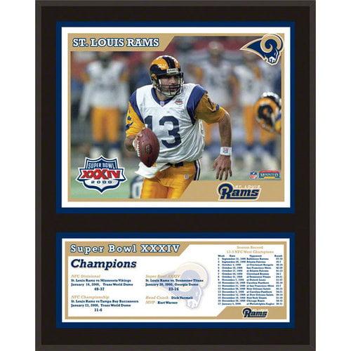 NFL - St. Louis Rams Sublimated 12x15 Plaque   Details: Super Bowl XXXIV