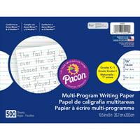 "Pacon Handwriting Paper Tablet, Grades K & 1, Ruled Long, 10.5"" x 8"", 500 Sheets"