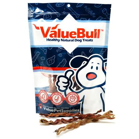 Lamb Pizzle Twists (ValueBull USA Lamb Pizzle Twist Dog Chews, 6 Inch, 25 Count )