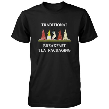 Traditional Breakfast Tea Packaging Humor T Shirt Funny Graphic Tee For Men  Funny Shirt