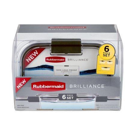 rubbermaid brilliance 6 pc 60 pieces
