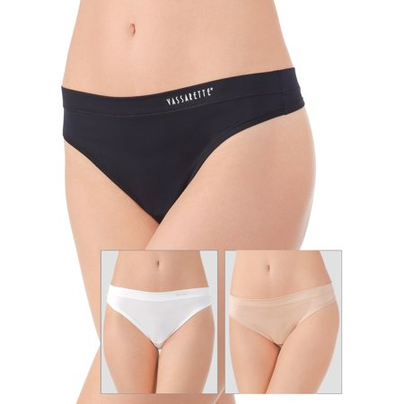 Sensational Stretch Thong Panty, 3 Pack