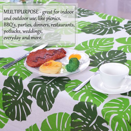 """Tablecloth Cotton Oil Stain Resistant Wedding Camping Table Cloths 55"""" x 55"""", #5 - image 3 de 7"""