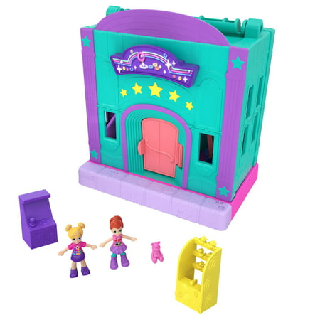 Polly Pocket Pollyville Arcade Playset with Micro Polly & Lila Dolls