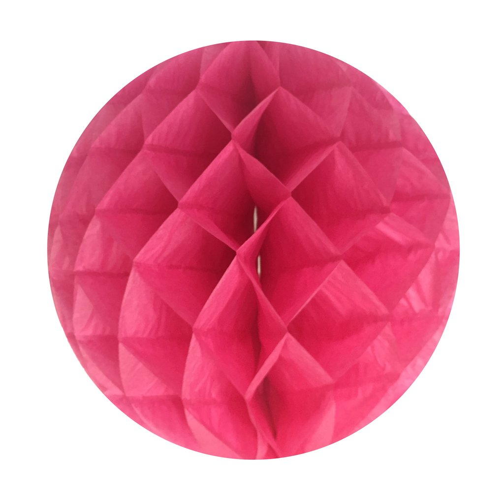 "Perfectmaze 5 Pc. 6"" Honeycomb Round Hanging Party Decoration Wedding Birthday (Fuchsia)"
