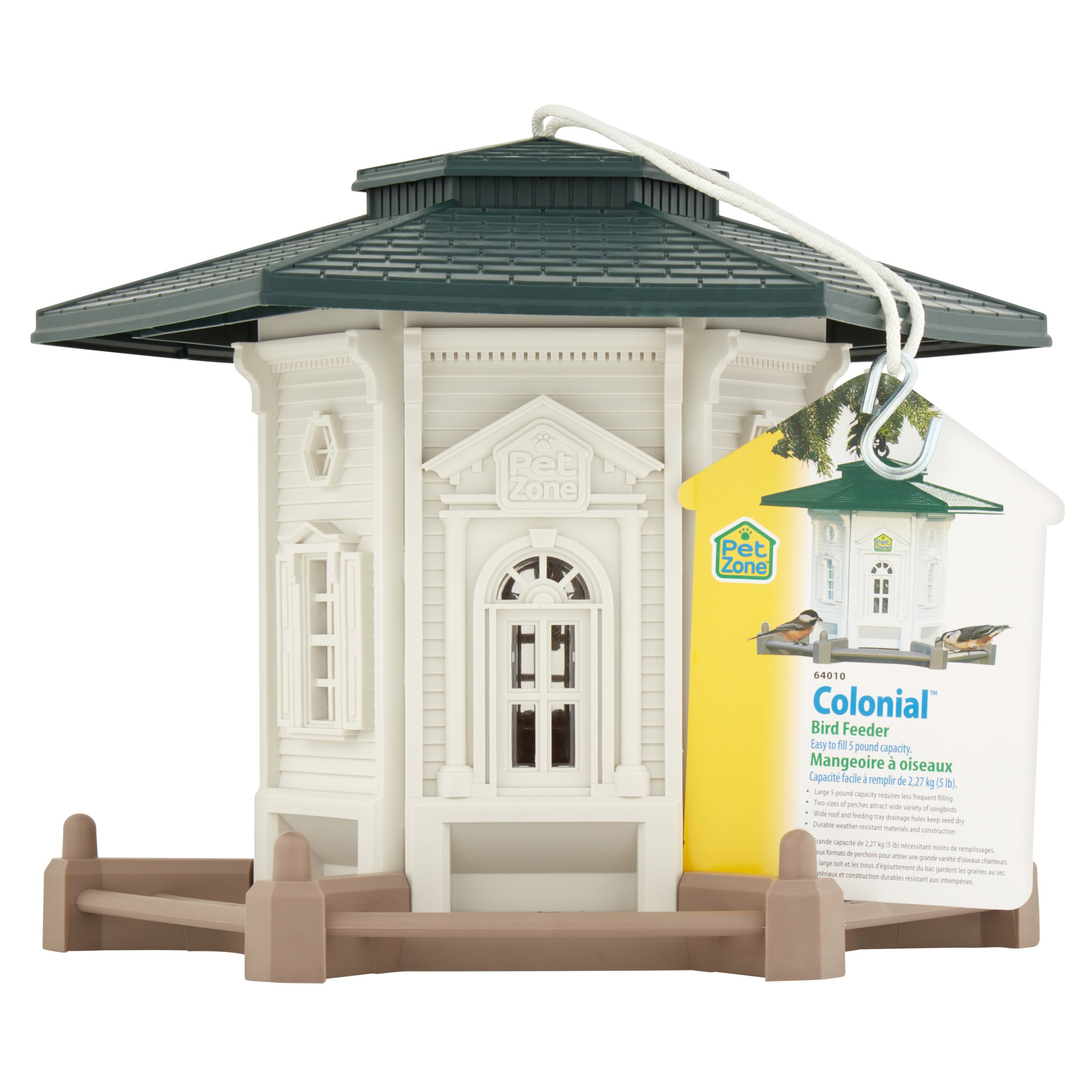 Pet Zone Colonial Birdfeeder, 1.0 CT by Pet Zone Products