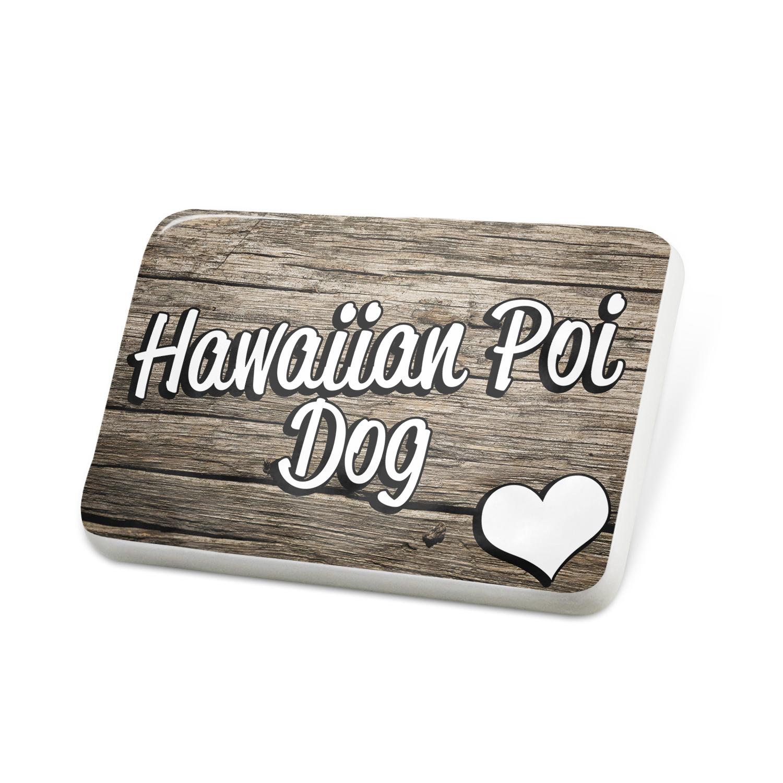 Porcelein Pin Hawaiian Poi Dog, Dog Breed United States Lapel Badge – NEONBLOND