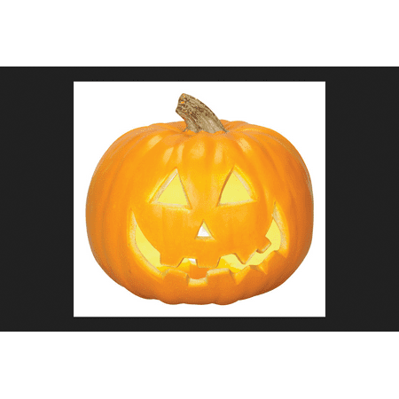 Gemmy Industries Lighted Jack-O-Lantern Halloween Decoration Orange 8.27 in. W x 8.86 in. L - Halloween Jackolanterns