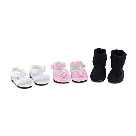 d1bb26ca73ee4 18 Inch Doll Clothes| Value Pack Doll Shoes, Including Pink Easter ...