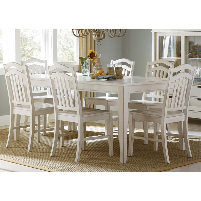 Liberty Furniture Summerhill 7 Piece Dining Set In Rubbed Linen