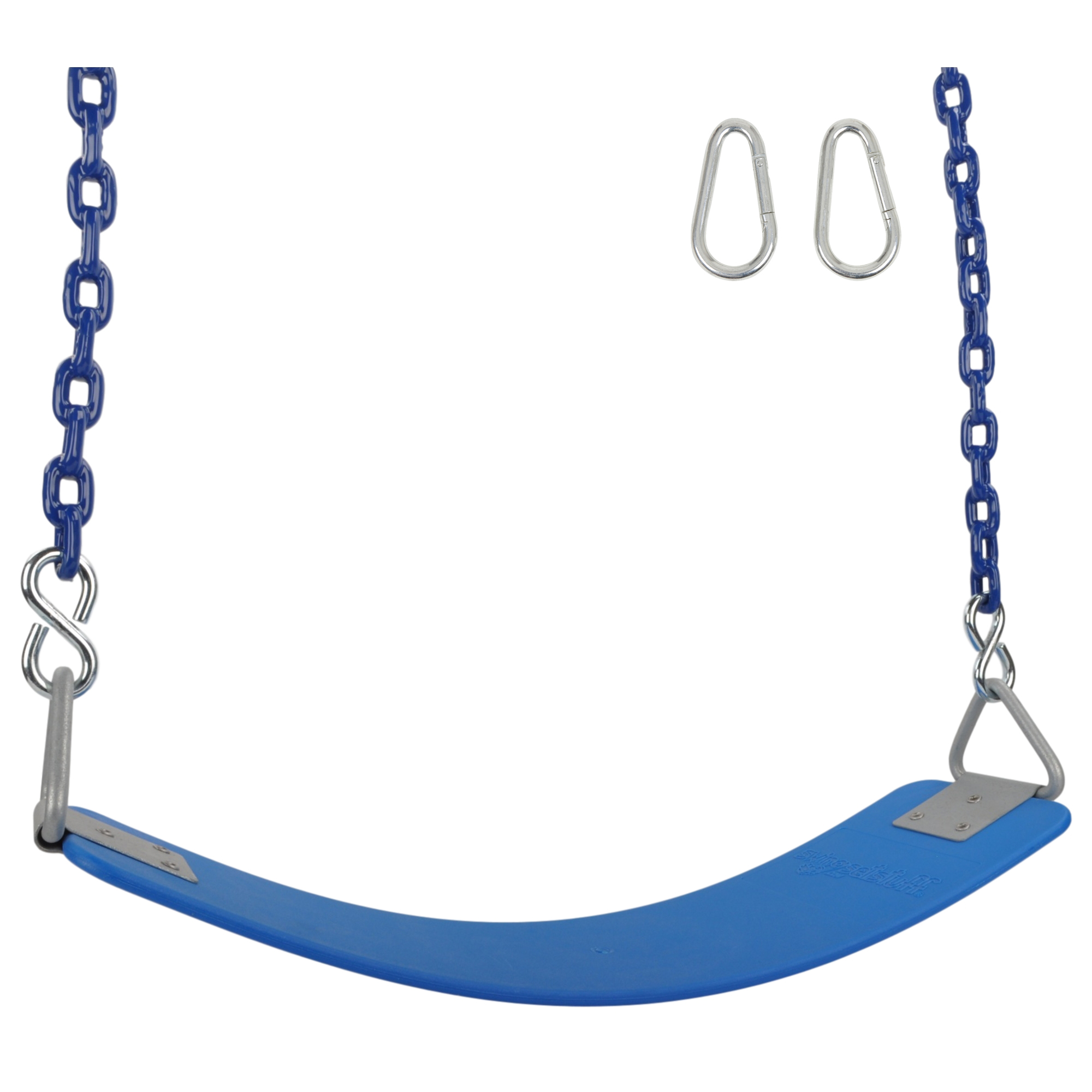 Swing Set Stuff Inc. Commercial Polymer Belt Seat with 8.5 Ft. Coated Chain (Blue)