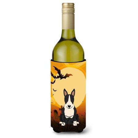 Halloween Bull Terrier Black & White Wine Bottle Beverge Insulator Hugger - image 1 of 1