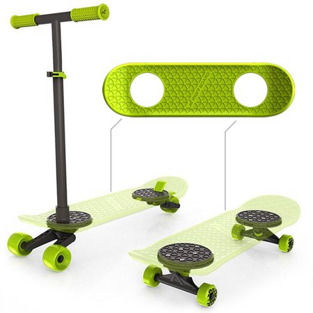 MorfBoard Scooter & Skateboard Combo Set - Chartreuse