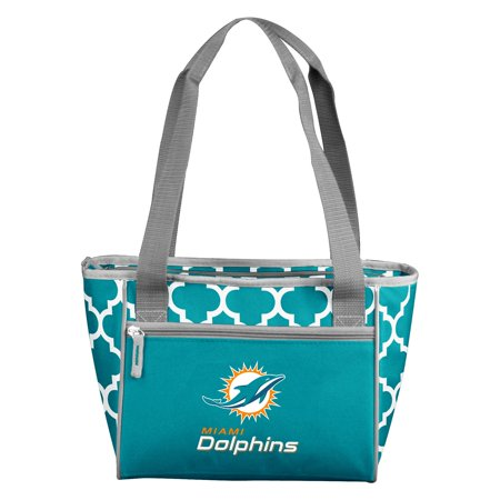 Miami Dolphins Car Flag - Miami Dolphins Quatrefoil 16 Can Cooler Tote