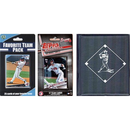 Sports Prayer Card - C & I Collectables MLB Atlanta Braves Licensed 2017 Topps Team Set and Favorite Player Trading Cards Plus Storage Album