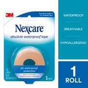 Nexcare Absolute Waterproof First Aid Tape, 1 in x 5 yd, 1 Roll