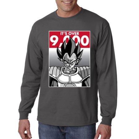 350 - Unisex Long-Sleeve T-Shirt It's Over 9000 Vegeta Goku Power Level Dragon Ball (Goku And Vegeta Best Friends Shirt)