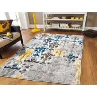 New Fashion Area Rugs Modern Yellow Beige Cream Grey 2x3 Rugs Western Faded Rugs Style Abstract Small Rugs For Bedrooms 2x4 Blue Entrance Rug Washable