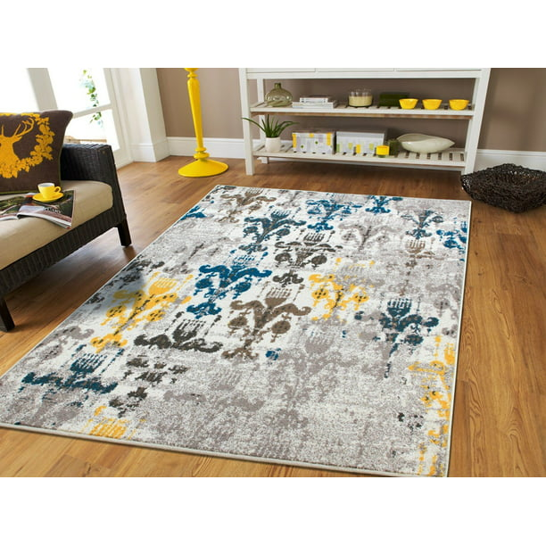 Rugs For Living Room Yellow Blue Grey 8x10 Area Rugs8x11 Rugs Walmart Com Walmart Com