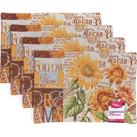 Better Homes And Gardens Sunflower Tapestry Placemat Set