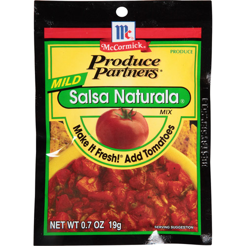 McCormick Produce Partners Mild Salsa Naturala Mix, 0.7 oz, (Pack of 12)