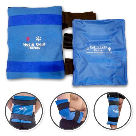 Ice Pack for Injuries - Reusable, Flexible Gel Ice Pack for Injuries and Pain Relief with Wrap and Straps - Hot & Cold Therapy for Arthritis, Hip, Shoulder, Back, or Knee, XL 14
