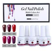 〖Follure〗6Pcs Gel Nail Polish Set UV LED Soak Off Gel Nail Art Kit Perfect Charm Color - Best Reviews Guide