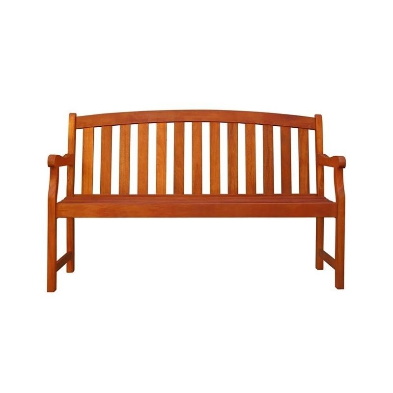 Pemberly Row Outdoor Wood Bench
