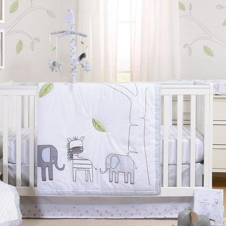 Elephant Park 5 Piece Jungle Safari MobileTheme Baby Crib Bedding Set by Little Haven - Baby Jungle Theme
