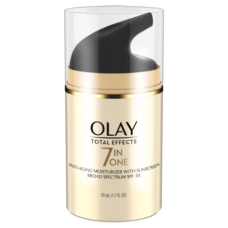 Olay Total Effects 7-in-1 Anti-Aging Daily Face Moisturizer With SPF 30, 1.7 fl oz Anti Aging Zinc Moisturizer