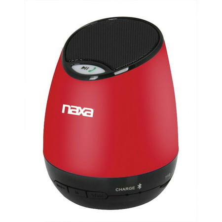 Naxa Compact BT Speaker and Speakerphone with Built-in MP3 Player-Red