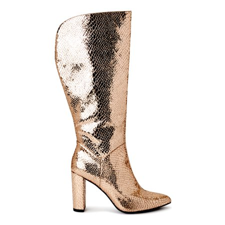 Scoop Women's Poppy High Heeled Metallic Boots