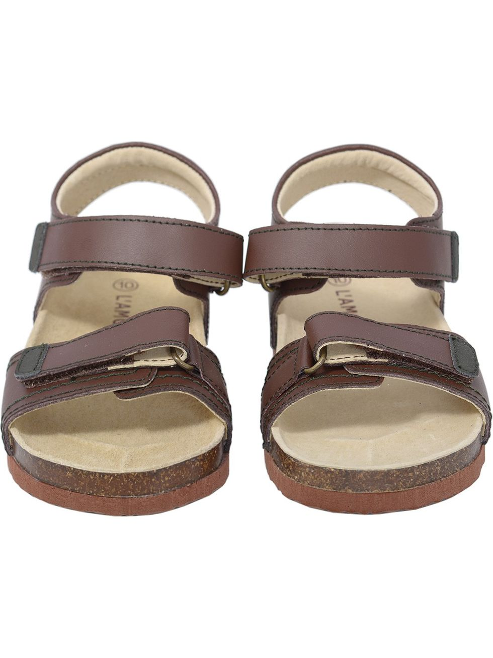 L'Amour Strap Dark Brown Soft Footbed Strap L'Amour Sandals Little Girls 11-4 a20219