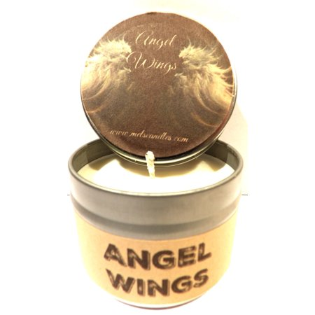 (Angel Wings 4oz All Natural Soy Candle Tin Candle handmade in Rolla Missouri)