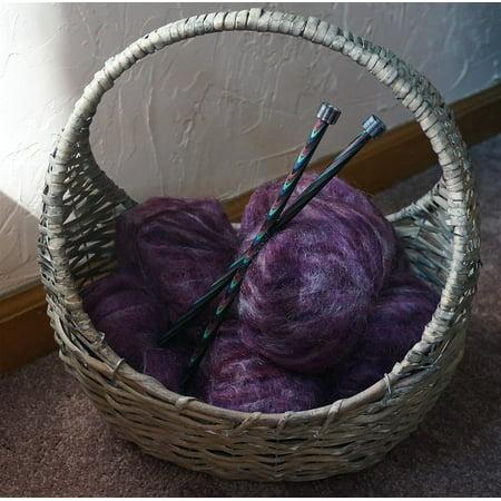LAMINATED POSTER Knitting Needles Basket Yarn Mohair Yarn In A Basket Poster Print 24 x 36
