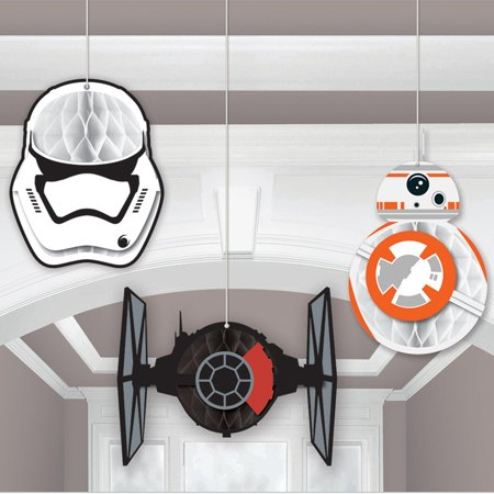 Star Wars Episode VII The Force Awakens Honeycomb Decoration - Star Wars Decorating Ideas