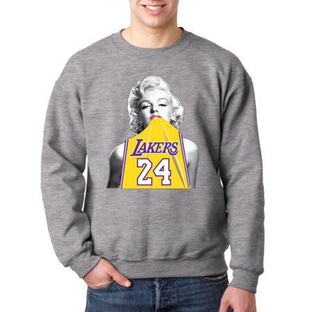 buy online c8015 cbd64 New Way 412 - Crewneck Marilyn Monroe Lakers 24 Kobe Bryant Jersey  Sweatshirt