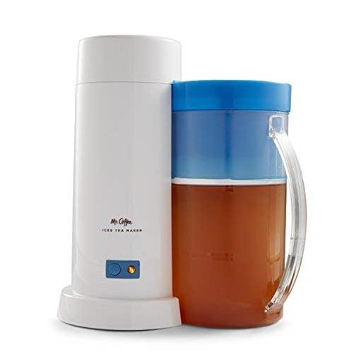 Mr. Coffee 2 Quart Blue Iced Tea Maker for Loose or Bagged Tea, 1 Each