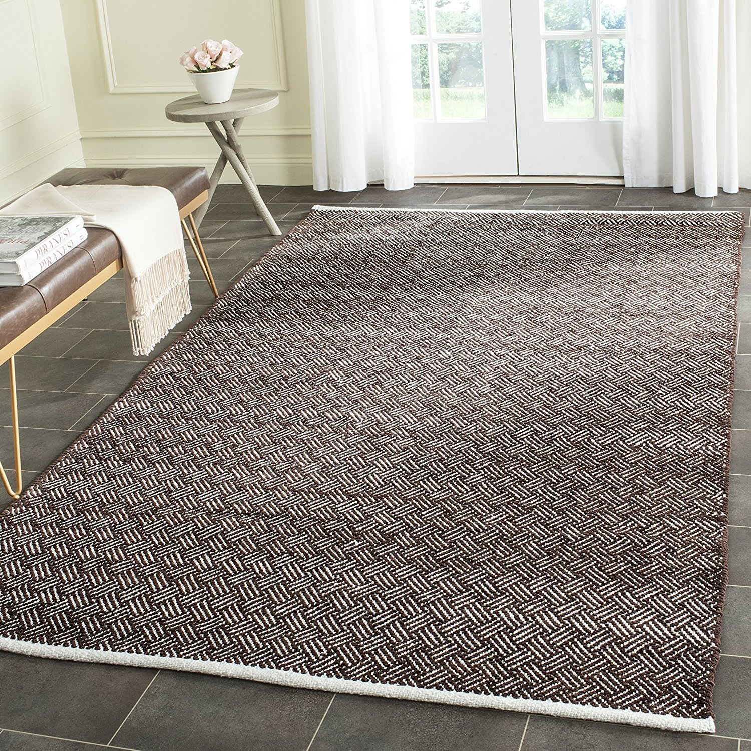 Safavieh Boston Collection BOS680E Handmade Grey Cotton Area Rug (3' x 5')