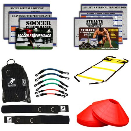 Kbands Soccer Pro Kit (Kbands + Speed Ladder + Agility Cones + Soccer Digital Training (Speed And Agility Training For Soccer Players)
