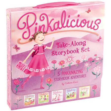 The Pinkalicious Take-Along Storybook Set : Tickled Pink, Pinkalicious and the Pink Drink, Flower Girl, Crazy Hair Day, Pinkalicious and the New (The Incredible Story Of Two Girls In Love)