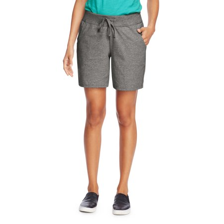 Women's 7 inseam Jersey Knit Pocket Shorts with Drawstring Waist